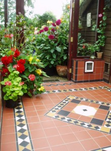 The conservatory at Hilltop Garden is a great refuge on a wet day